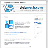The Default Club Website Template