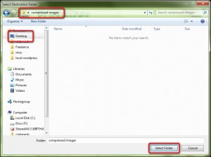 Create a folder that is easily accessible.