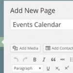 Create a new calendar page